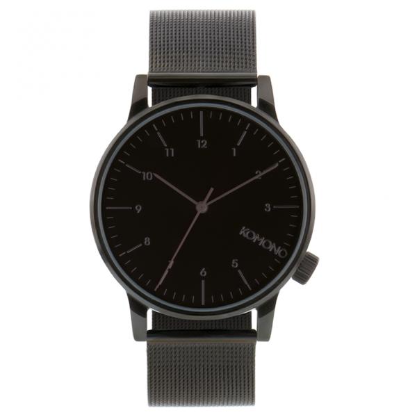 Wristwatches Komono KOM-W2352 Winston Royale Black Metal Gents Watch
