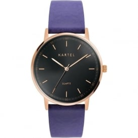 Kartel KT-HUME-RGBS Hume Rose Gold & Royal Blue Leather Watch