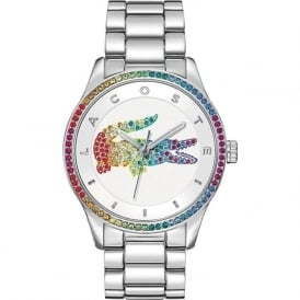 Lacoste 2000869 Victoria Multi Colour Crystal & Silver Stainless Steel Watch