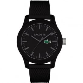 2010766 Lacoste 12.12 Black Rubber Strap Watch