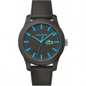 Lacoste 2010791 12.12 Blue & Black Silicone Watch