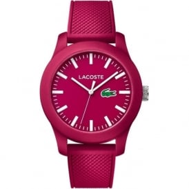 2010793 Lacoste 12.12 Woman's Pink Rubber Strap Watch