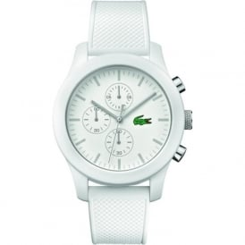 Lacoste 2010823 12.12 Chronograph White Silicone Watch