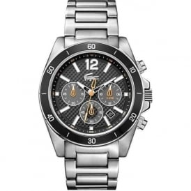 Lacoste 2010834 Seattle Black & Silver Chronograph Mens Watch