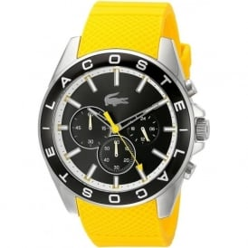 Lacoste 2010852 Westport Chronograph Black & Yellow Silicone Mens Watch