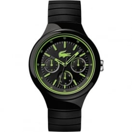 Lacoste 2010867 Borneo Green & Black Silicone Mens Watch