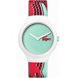 Lacoste 2020114 Goa Red & Turquoise Silicone Watch