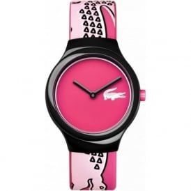 Lacoste 2020115 Goa Black & Pink Silicone Watch