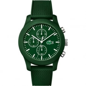 Lacoste 12.12 2010822 Unisex Chronograph Green Rubber Strapped Watch