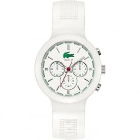 Lacoste 2010653 White BORNÉO with Chronograph & White Rubber Strap
