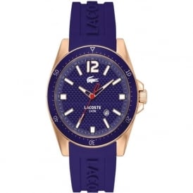 Lacoste 2010750 Gold & Blue Rubber Watch