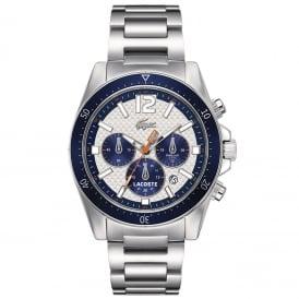Lacoste 2010753 Silver & Blue Seattle Men's Chronograph Watch