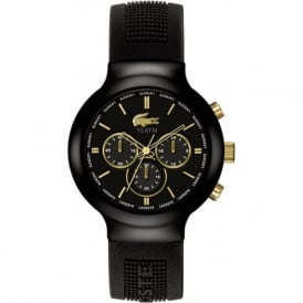 Lacoste Barneo 2010687 Gold & Black Rubber Strap Watch