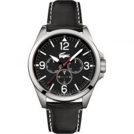 Lacoste Montreal 2010804 Men's Black Leather Strapped Watch