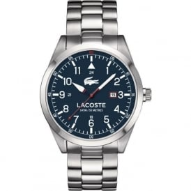 Lacoste Montreal 2010783 Blue Faced Silver Stainless Steel Linked Watch