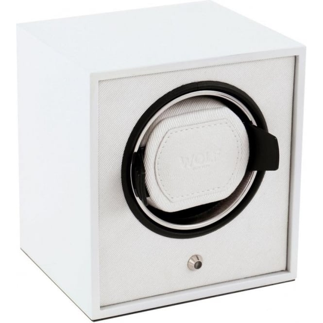 Wolf Designs Lacquered Cub White Single Watch Winder 1.8