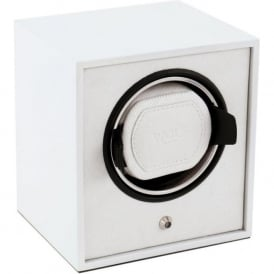 Lacquered Cub White Single Watch Winder 1.8