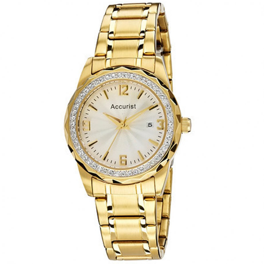Accurist Watch gold LB1681 | cheapest Accurist gold ladies ...