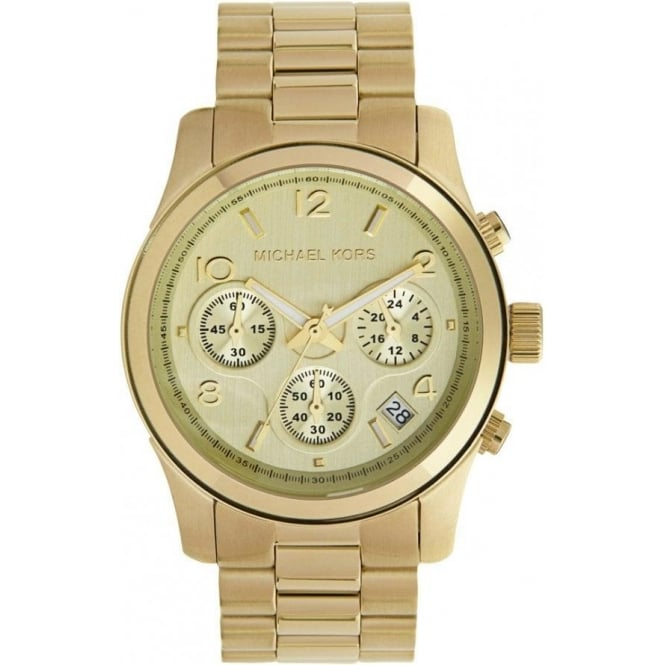 Michael Kors Watches MK5055 Ladies Chronograph Gold Tone Plated Watch