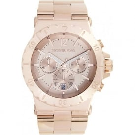 Ladies Chronograph PVD Rose Gold Watch MK5314