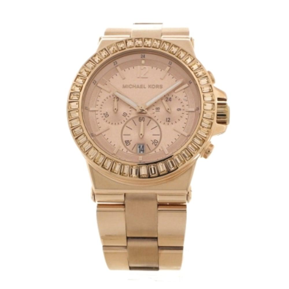 a2310dd401f8 Michael Kors chronograph rose PVD plated watch MK5412