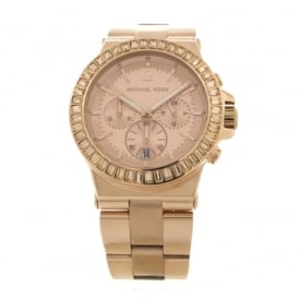 Ladies Chronograph Rose PVD Plated Watch MK5412