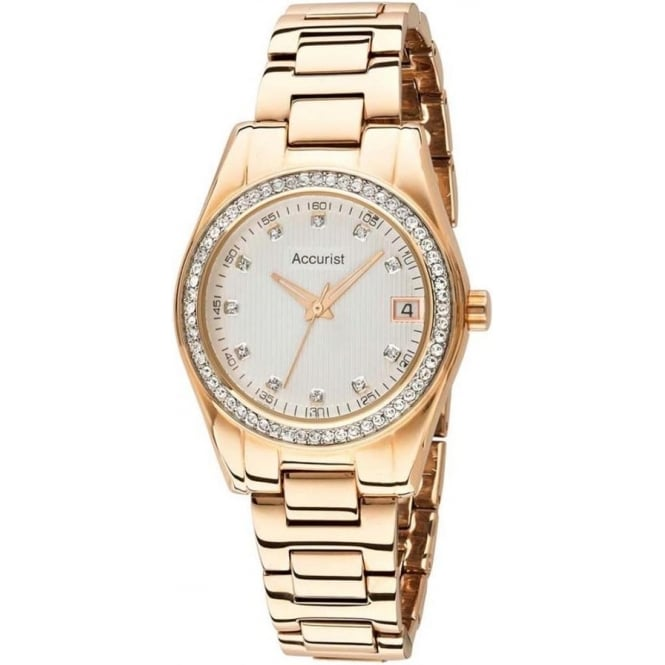 Accurist LB1560 Gold Ladies Watch