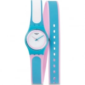 Swatch LL117 Tropical Beauty Double Wrap Silicon Watch