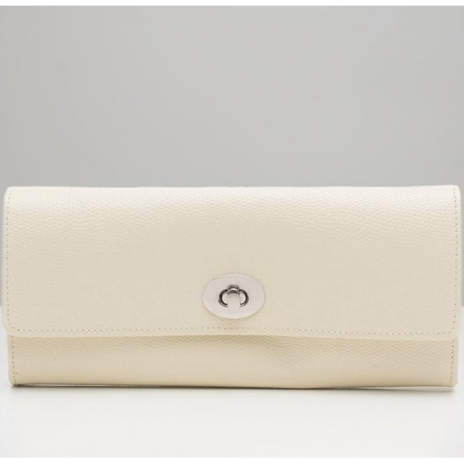 Wolf Designs London Cream Leather Jewellery Roll