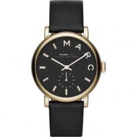 Marc Jacobs MBM1269 Baker Gold & Black Leather Ladies Watch