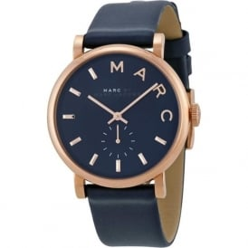 Marc Jacobs MBM1329 Baker Rose Gold & Navy Leather Ladies Watch
