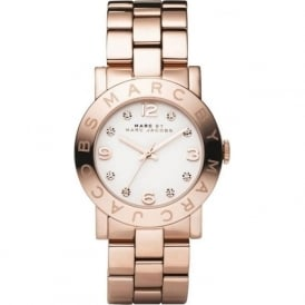 Marc Jacobs MBM3077 Amy White & Rose Gold Ladies Watch
