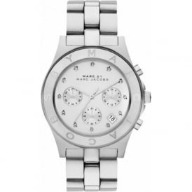 Marc Jacobs MBM3100 Blade Silver Stainless Steel Chronograph Ladies Watch