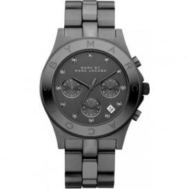 Marc Jacobs MBM3103 Blade Gun IP Steel Chronograph Ladies Watch