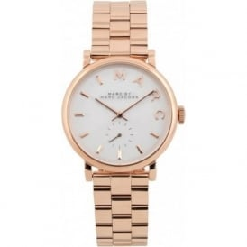 Marc Jacobs MBM3244 Baker White & Rose Gold Ladies Watch