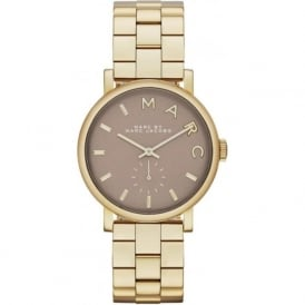 Marc Jacobs MBM3281 Baker Grey & Gold Tone Stainless Steel Ladies Watch