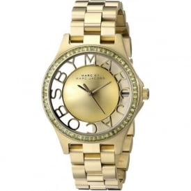 Marc Jacobs MBM3338 Henry Glitz Gold Stainless Steel Ladies Watch