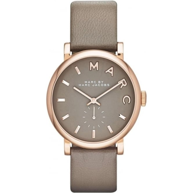 Marc Jacobs MBM1266 Baker Rose Gold & Grey Leather Ladies Watch