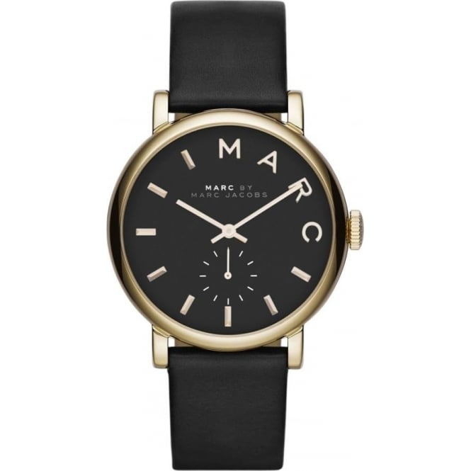 Marc Jacobs MBM1269 Baker Gold & Black Leather Ladies Watch