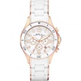 MBM2547 Rock Rose Gold & White Chronograph Ladies Watch