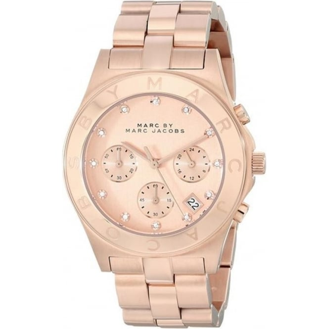 Marc Jacobs MBM3102 Blade Rose Gold Chronograph Ladies Watch