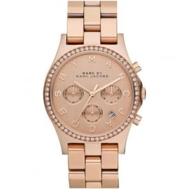 Marc Jacobs MBM3118 Henry Rose Gold Tone Stainless Steel Chronograph Ladies Watch