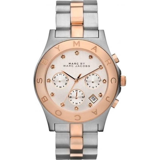 Marc Jacobs MBM3178 Blade Two Tone Stainless Steel Chronograph Ladies Watch