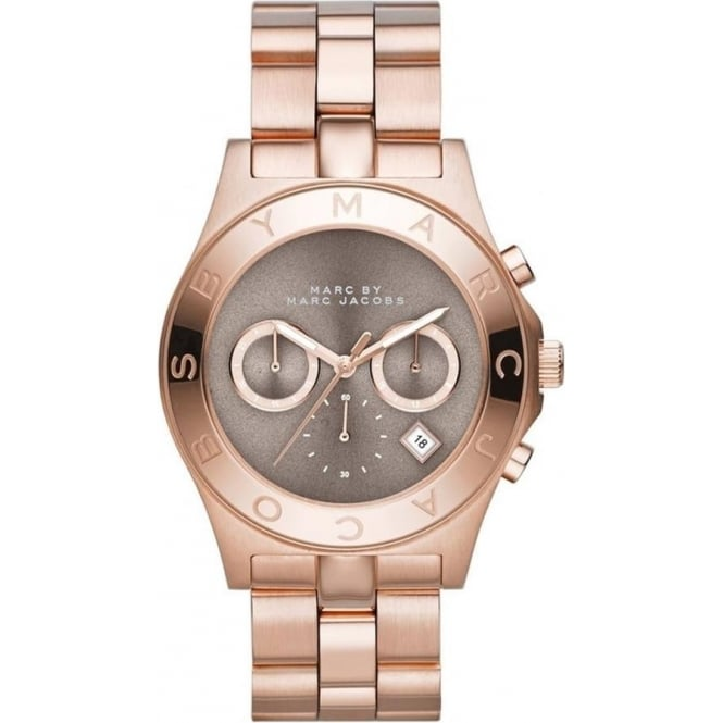 Marc Jacobs MBM3308 Blade Grey & Rose Gold Chronograph Ladies Watch