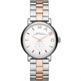 Marc Jacobs MBM3312 Baker Rose Gold & Silver Stainless Steel Ladies Watch