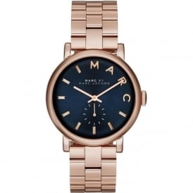 MBM3330 Baker Navy & Rose Gold Stainless Steel Ladies Watch