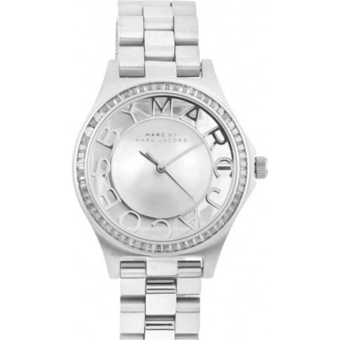 Marc Jacobs MBM3337 Henry Glitz Silver Stainless Steel Ladies Watch