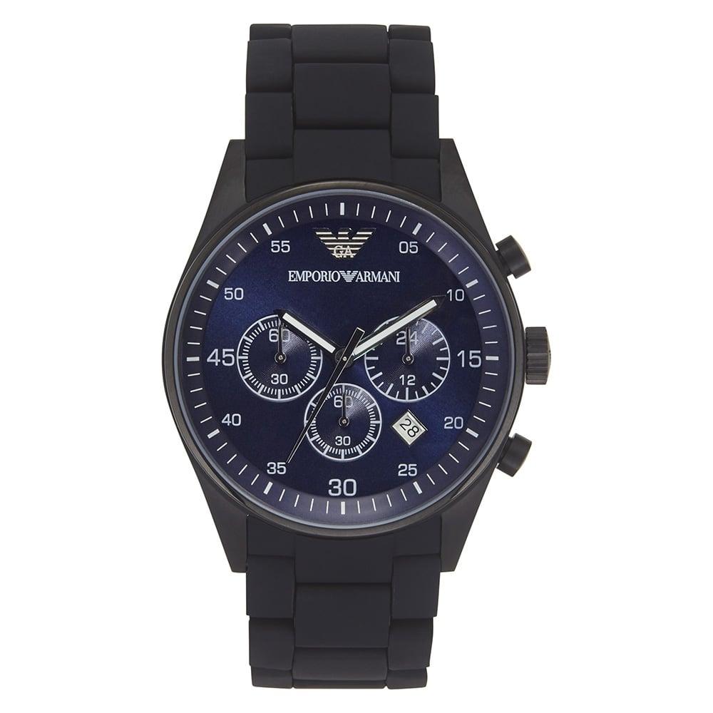 17e255780f8 Mens Black Chronograph Watch AR5921