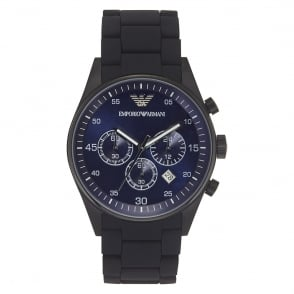 Armani Watches Mens Black Chronograph Watch AR5921