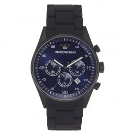 Mens Black Chronograph Watch AR5921